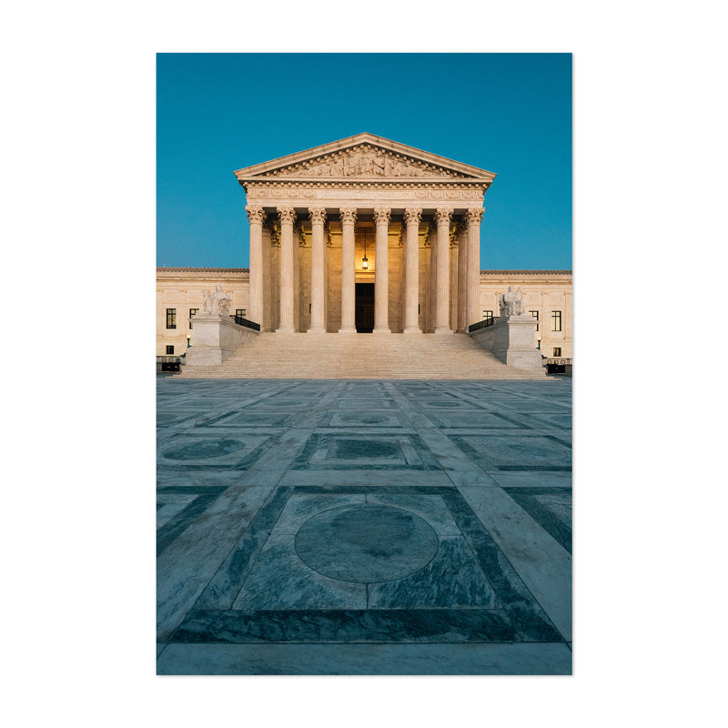 Washington DC Supreme Court Art Print