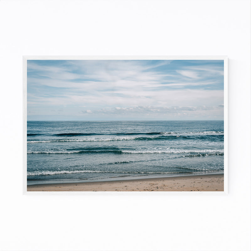 Asbury Park, New Jersey Beach Framed Art Print