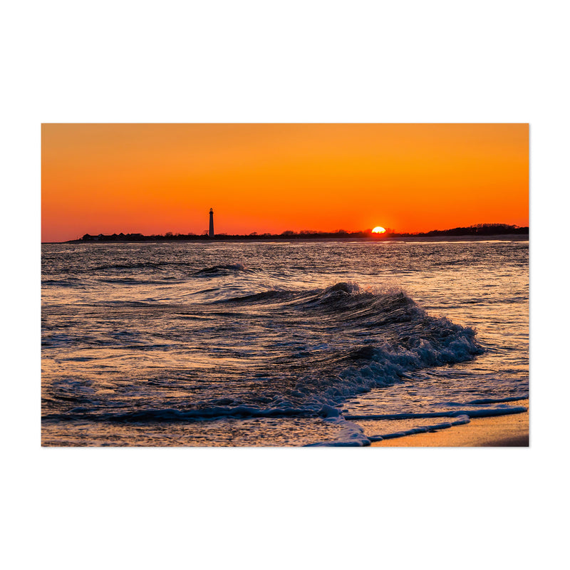 Coastal Cape May Ocean Sunset Art Print