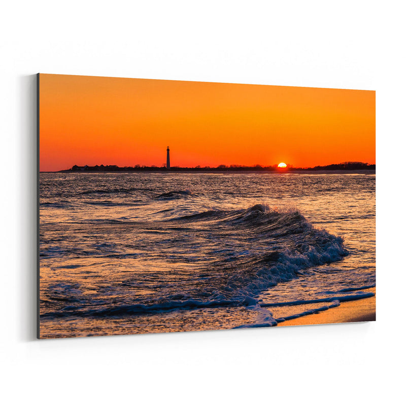 Coastal Cape May Ocean Sunset Canvas Art Print