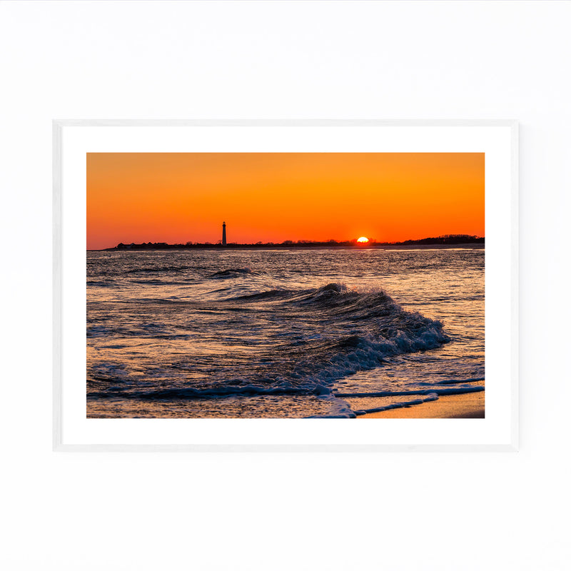Coastal Cape May Ocean Sunset Framed Art Print