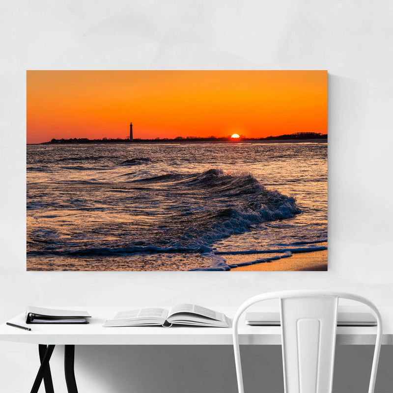 Coastal Cape May Ocean Sunset Metal Art Print