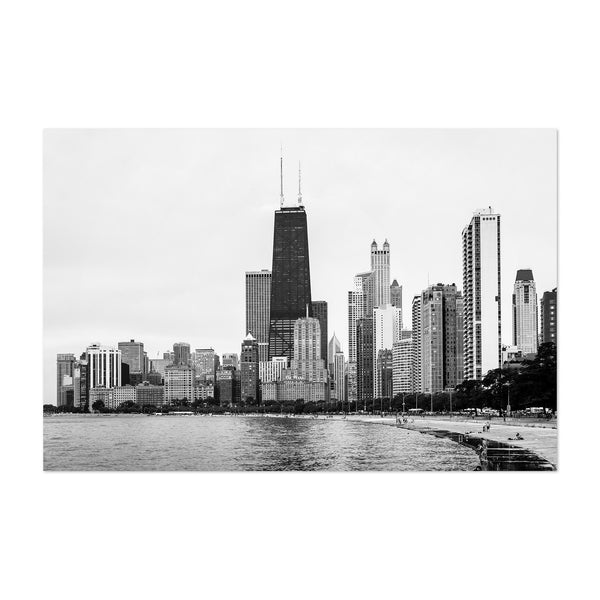 Chicago Skyline Lake View Urban Art Print