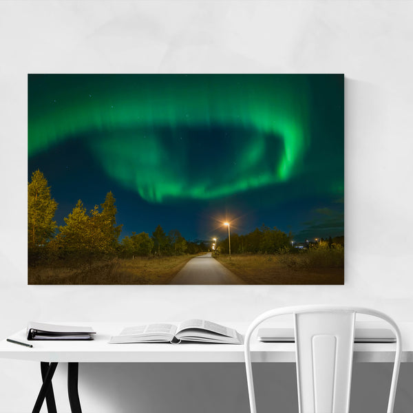 Aurora Borealis Sweden Night Sky Art Print