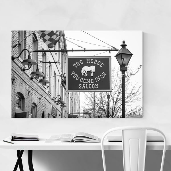 Black & White Baltimore Saloon Art Print