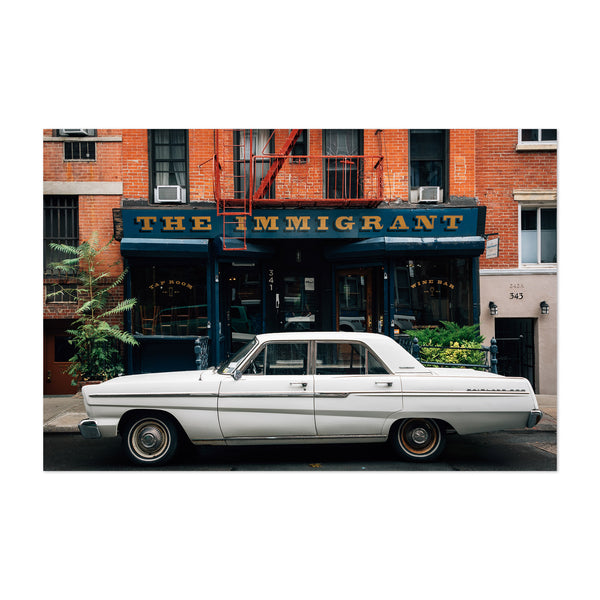 Car East Village New York City Art Print