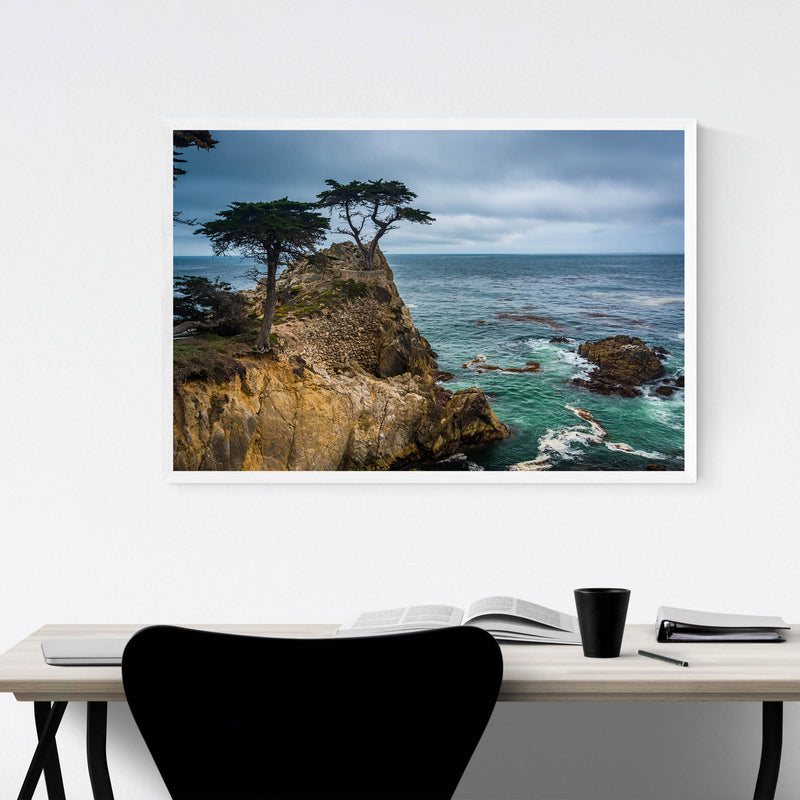 Lone Cypress 17 Mile California Framed Art Print