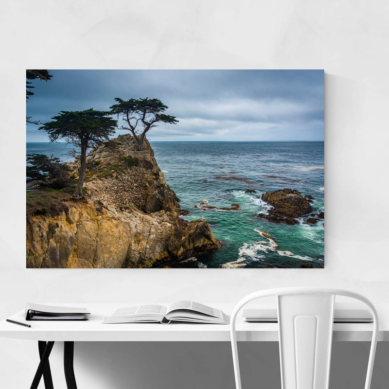 Lone Cypress 17 Mile California Metal Art Print