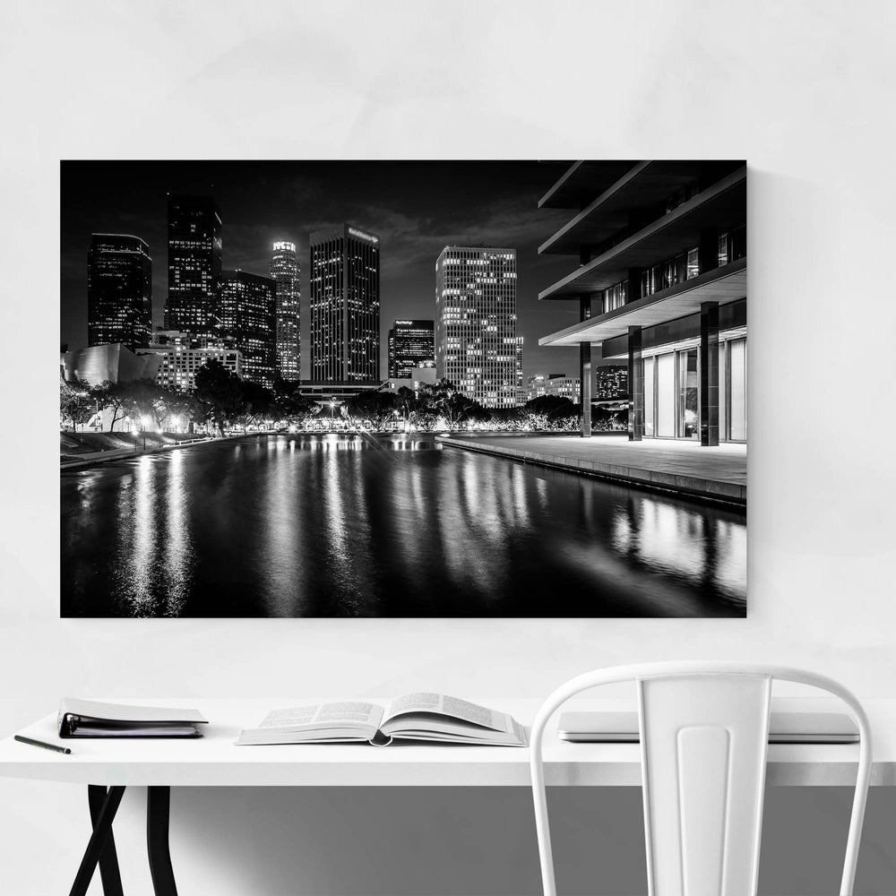 Los Angeles Skyline at Night Art Print