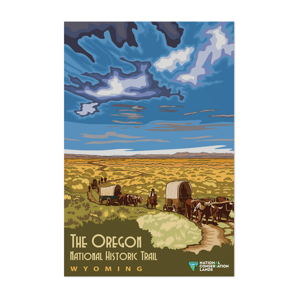 Oregon Trail Montana Travel Art Print