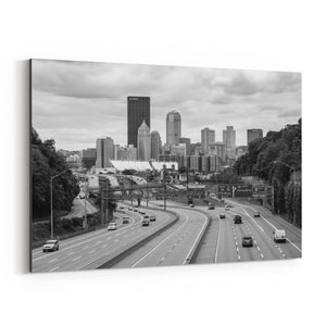Pittsburgh Skyline Cityscape Canvas Art Print