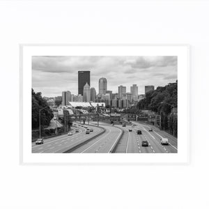 Pittsburgh Skyline Cityscape Framed Art Print