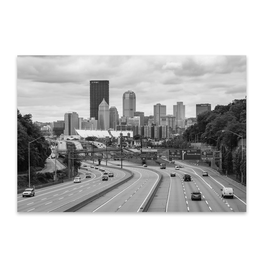 Pittsburgh Skyline Cityscape Metal Art Print