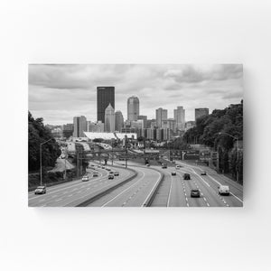 Pittsburgh Skyline Cityscape Mounted Art Print