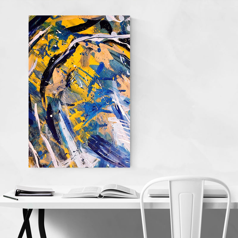 Brush Abstract Splatter Painting Canvas Art Print