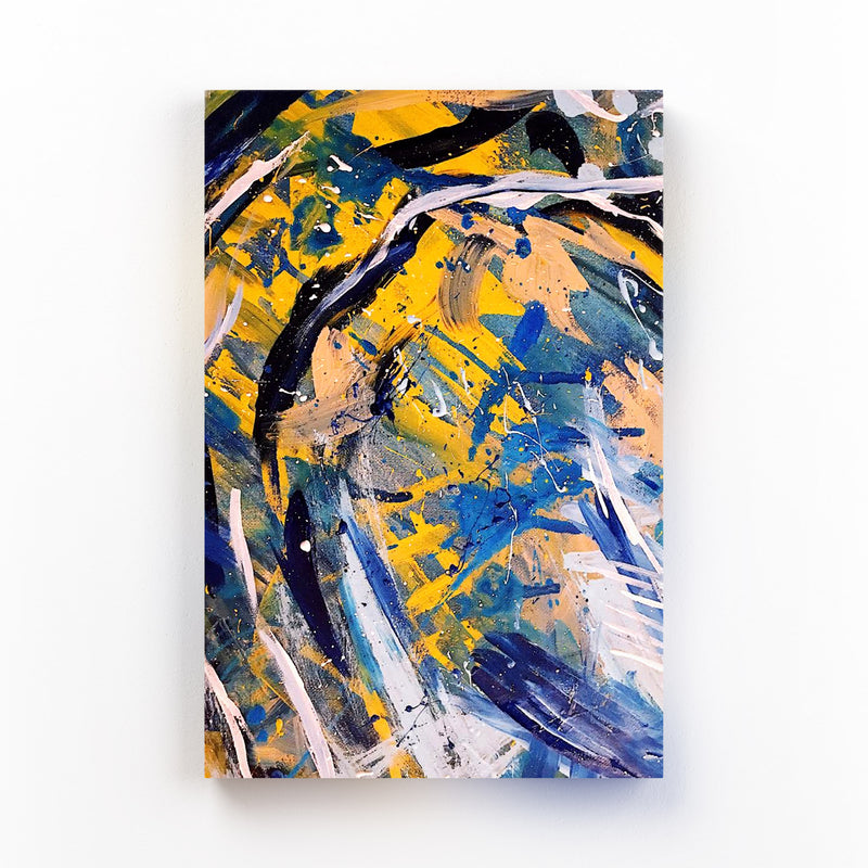 Brush Abstract Splatter Painting Mounted Art Print