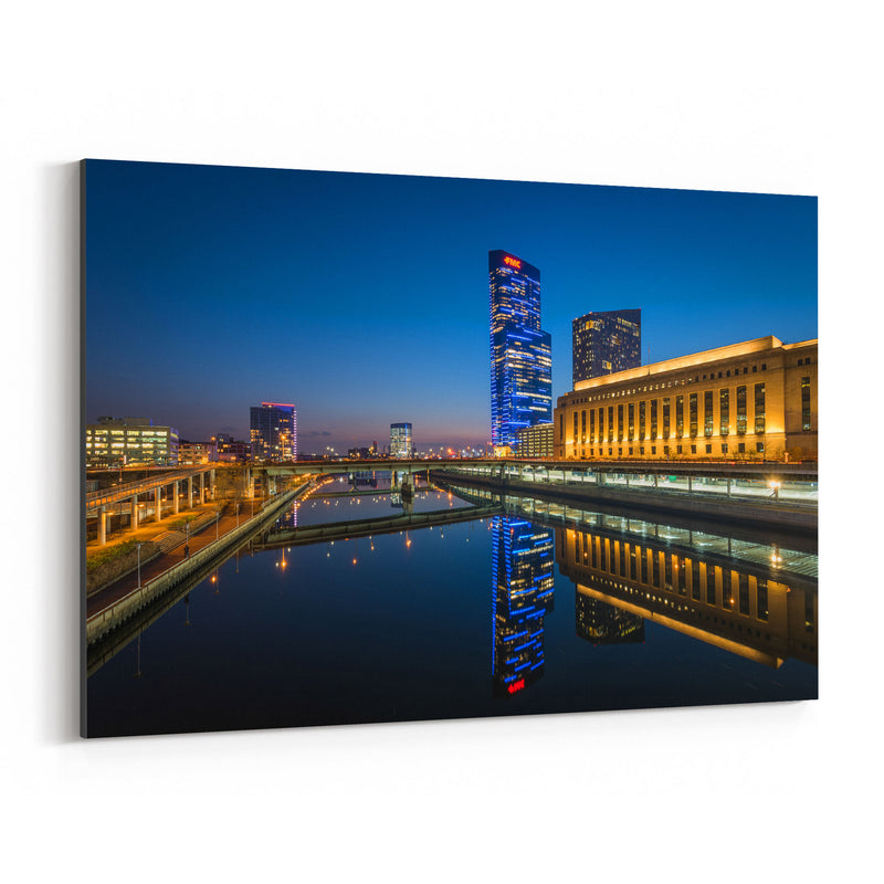 Philadelphia Skyline Night Canvas Art Print