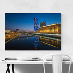 Philadelphia Skyline Night Framed Art Print