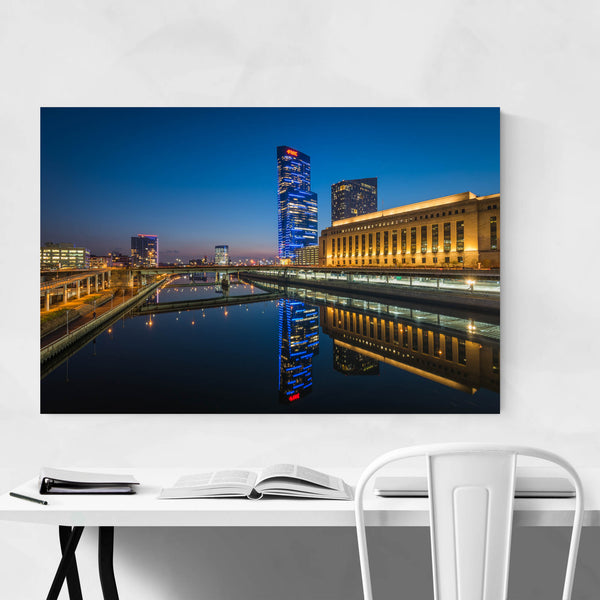 Philadelphia Skyline Night Art Print