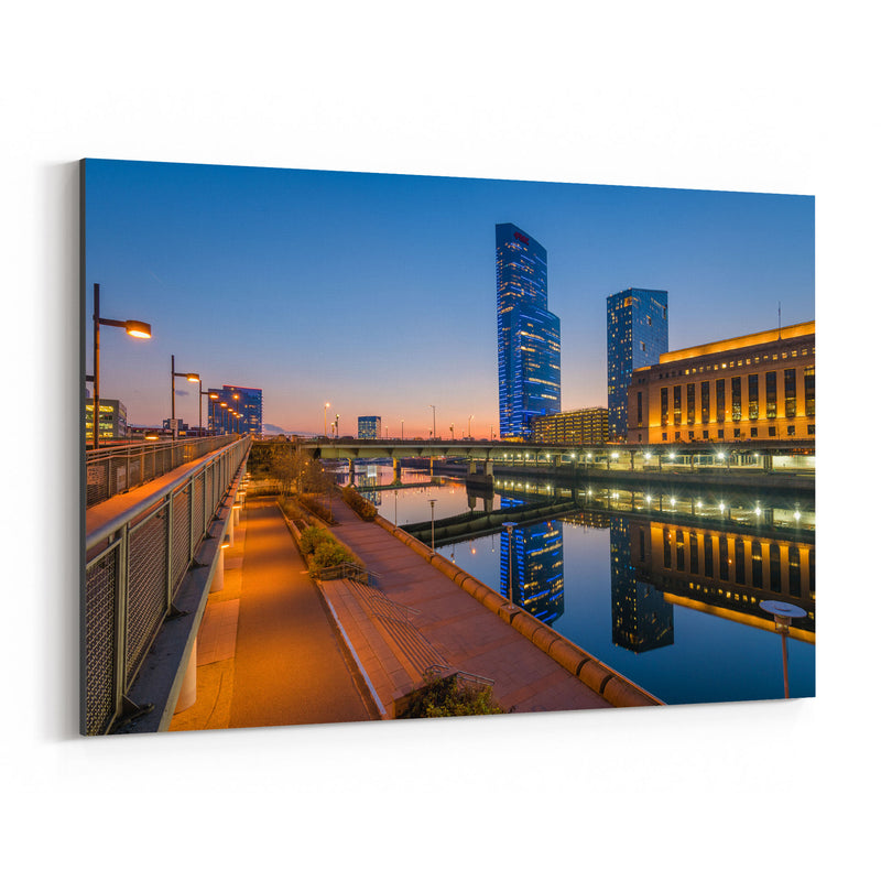 Philadelphia Skyline Sunset Canvas Art Print
