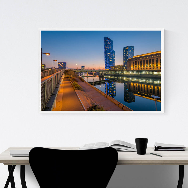 Philadelphia Skyline Sunset Framed Art Print