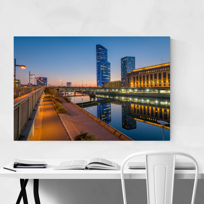 Philadelphia Skyline Sunset Metal Art Print