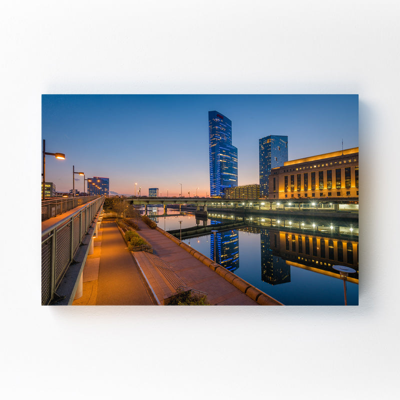 Philadelphia Skyline Sunset Mounted Art Print