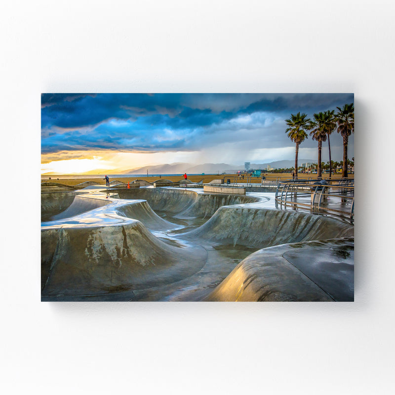 Venice Beach Skate Park CA Canvas Art Print