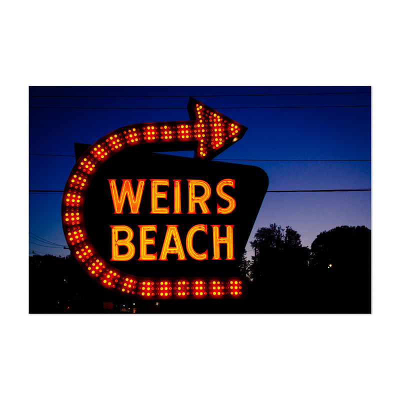 Weirs Beach Sign New Hampshire Art Print