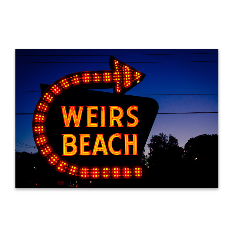 Weirs Beach Sign New Hampshire Metal Art Print