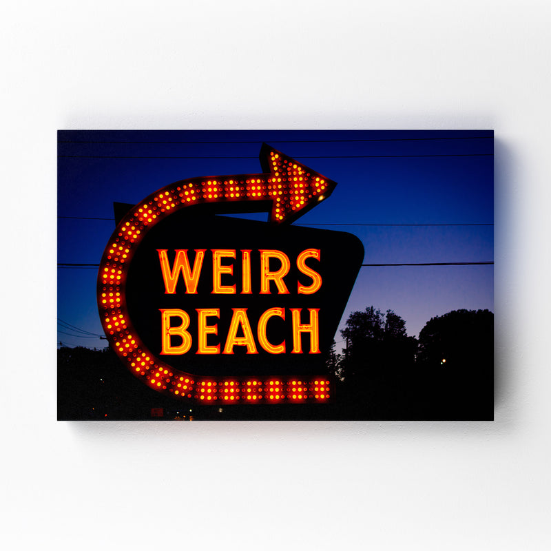 Weirs Beach Sign New Hampshire Canvas Art Print