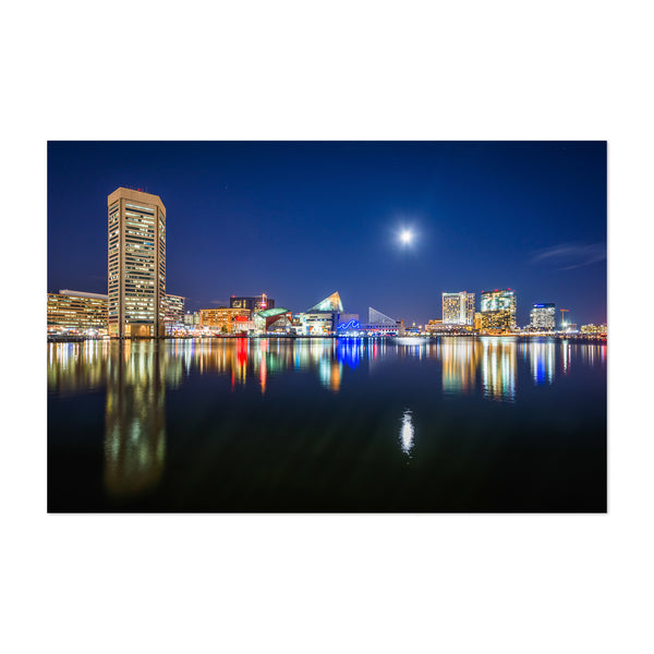 Inner Harbor Skyline Baltimore Art Print