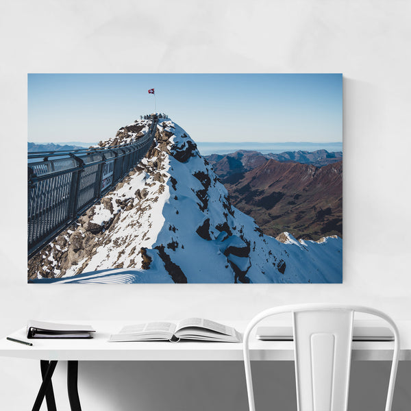 Bridge Glacier Switzerland Alps Art Print