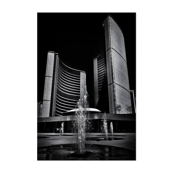 Toronto City Hall Architecture Art Print