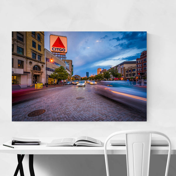 Boston Kenmore Square at Sunset Art Print