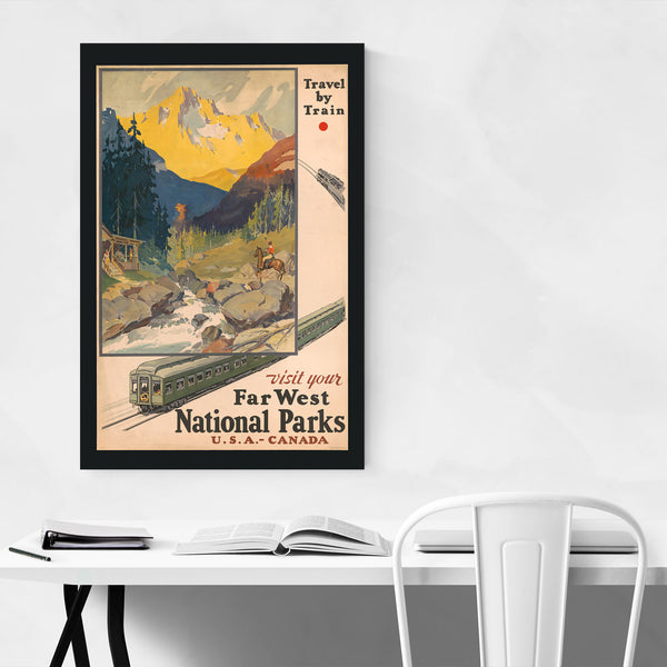 Visit National Park Retro Poster Art Print