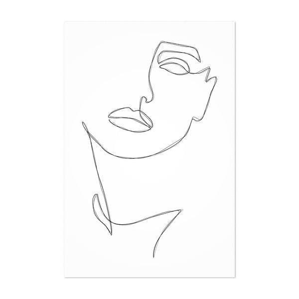 Fashion Feminist Line Drawing Art Print