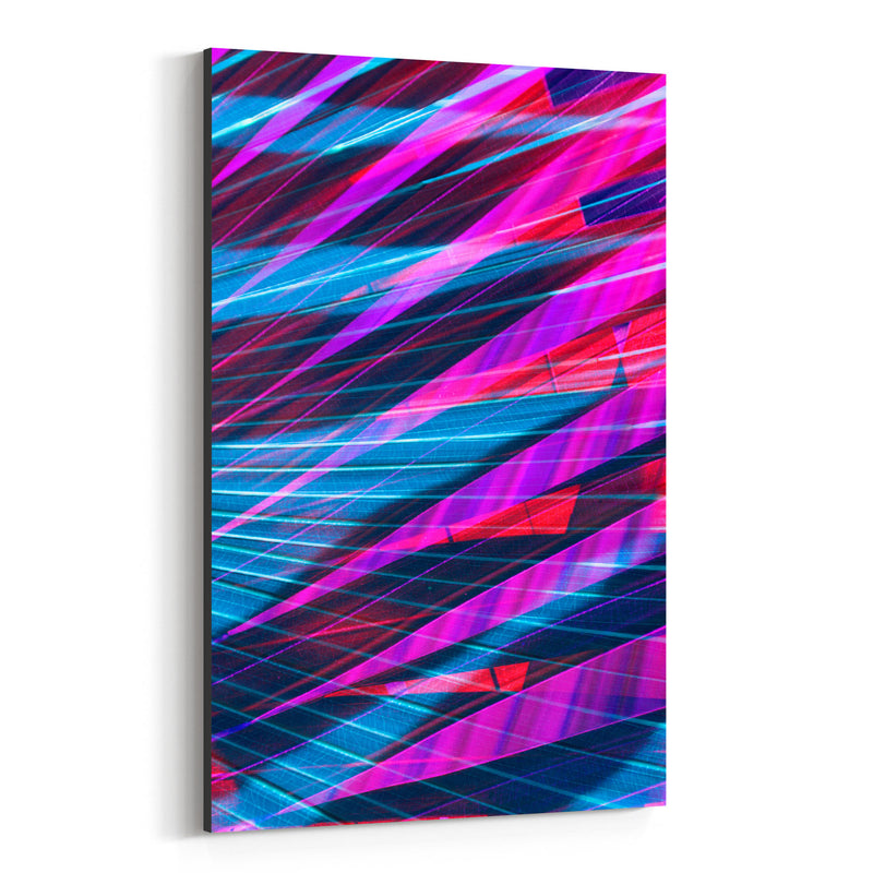 Abstract Blue & Purple Palms Canvas Art Print