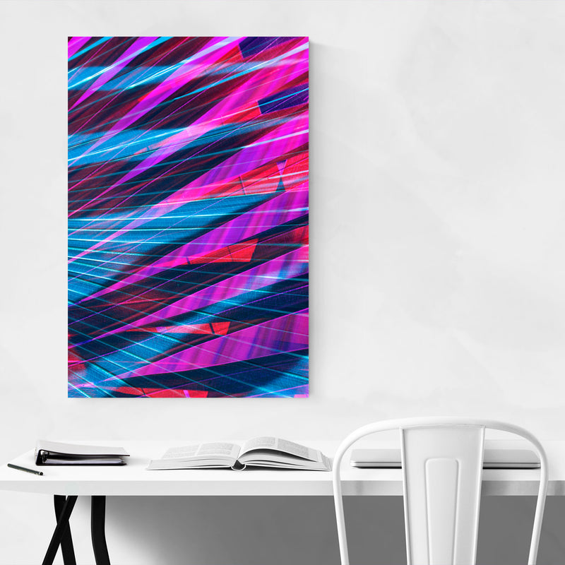 Abstract Blue & Purple Palms Art Print