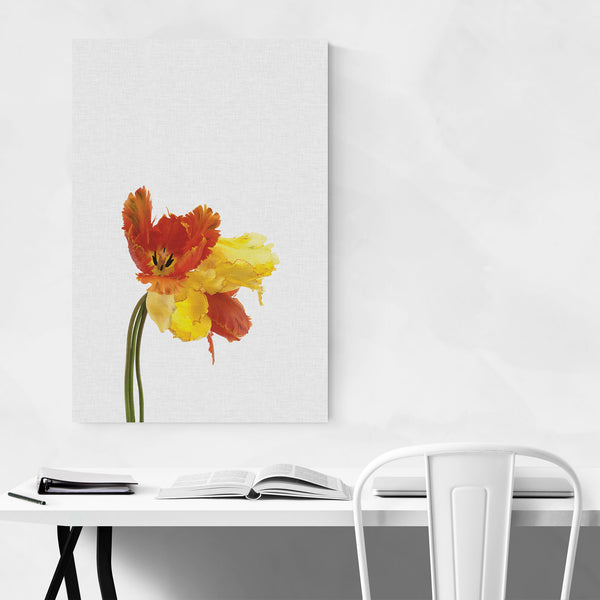 Tulip Floral Boranical Yellow Art Print