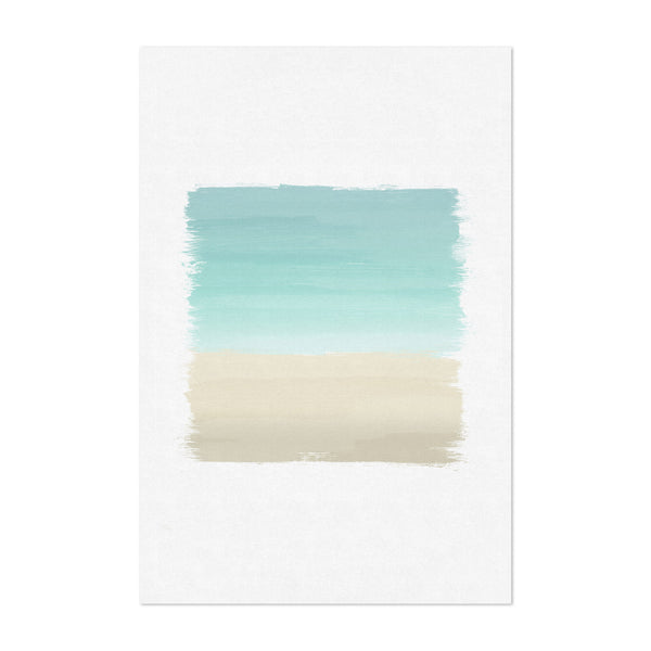 Abstract Coastal Beach Painting Art Print