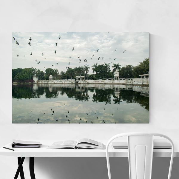 Lake Dudh Udaipur India Art Print