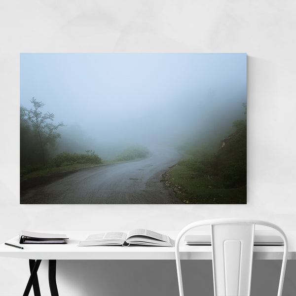 Foggy Dirt Road Path Art Print