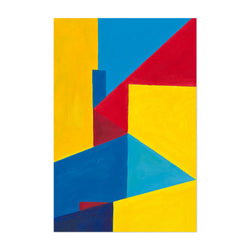Abstract City Geometric Painting Art Print