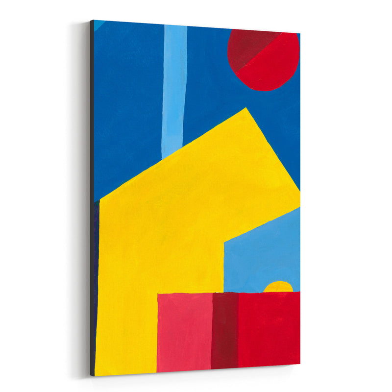 Abstract City Geometric Painting Canvas Art Print