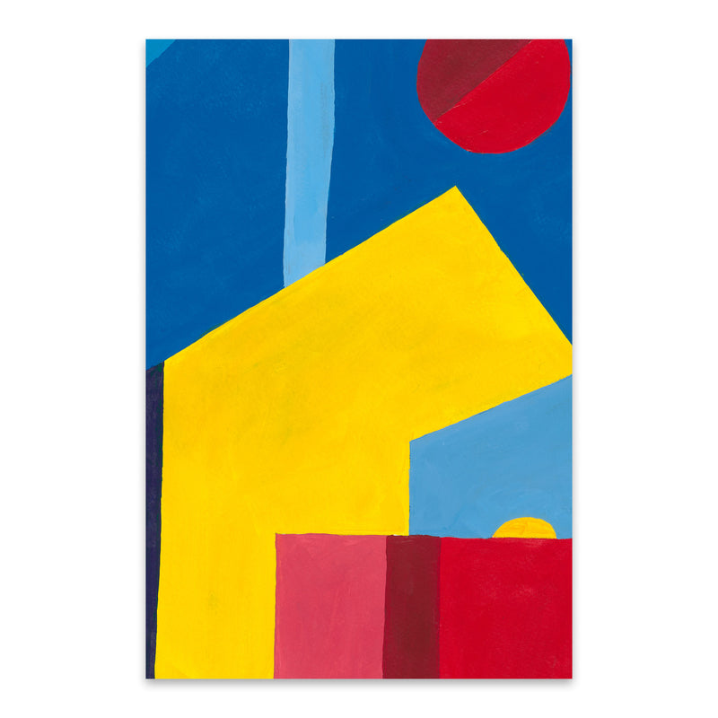 Abstract City Geometric Painting Metal Art Print