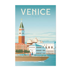 Retro Venice Italy Travel Print Art Print