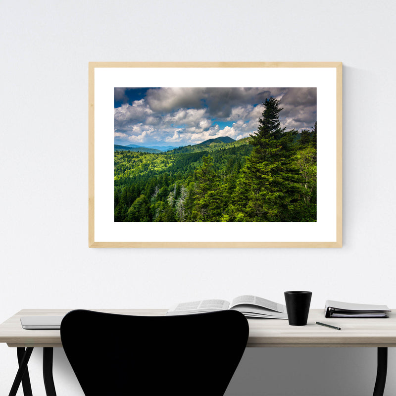 North Carolina Appalachians View Framed Art Print