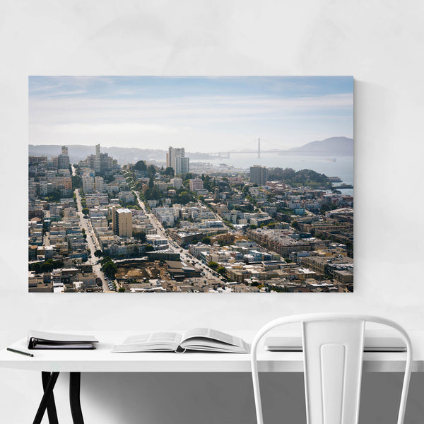 San Francisco Skyline California Art Print