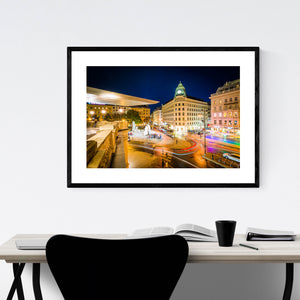Vienna View of Albertinaplatz Framed Art Print